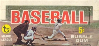 1968 Topps Baseball Display Box