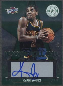 2012/13 Totally Certified #6 Kyrie Irving Green Rookie Roll Call Auto #3/5