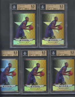 2012 Leaf Valiant Stars #S6 Bradley Beal All-Rookie Team Black Set of 5 All BGS 9.5