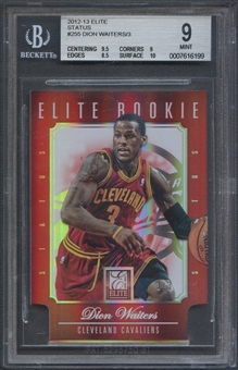 2012/13 Elite #255 Dion Waiters Elite Status Rookie #3/3 BGS 9