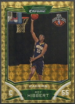 2008/09 Bowman Chrome #126 Roy Hibbert Rookie Superfractors #1/1