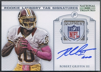 2012 Panini National Treasures #14 Robert Griffin III Rookie NFL Shield Patch Auto #03/10