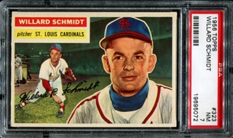 1956 Topps Baseball #323 Willard Schmidt PSA 7 (NM) *5072
