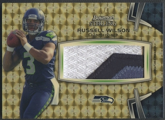 2012 Bowman Sterling #BSJRRRW Russell Wilson Rookie Superfractors Patch #1/1