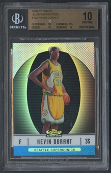 2006/07 Finest #102 Kevin Durant Rookie Refractors Blue #214/299 BGS 10