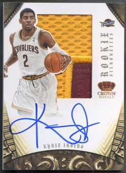 2012/13 Panini Preferred #327 Kyrie Irving Rookie Silhouettes Patch Auto #14/25