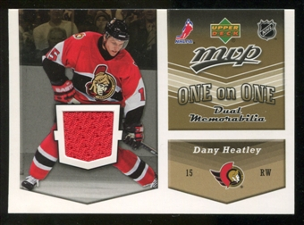 2006/07 Upper Deck Jerseys #OJHS Dany Heatley/Alexander Steen