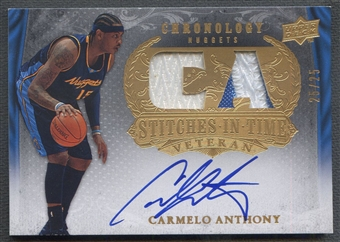 2007/08 Chronology #CA Carmelo Anthony Stitches in Time Patch Auto #25/25