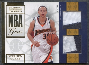 2009/10 Playoff National Treasures #11 Stephen Curry Rookie NBA Gear Dual Patch #06/49