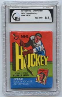 1971/72 Topps Hockey Wax Pack GAI 8.5 (NM-MT+)