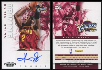 2012/13 Panini Contenders #250 Kyrie Irving RC Autograph