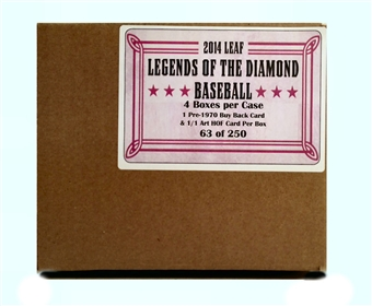 2014 Leaf Legends of the Diamond Baseball Hobby 4-Box Case