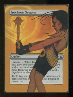 Magic the Gathering Mirrodin Single Isochron Scepter ALTERED - MODERATE PLAY (MP)