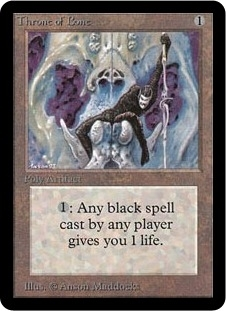 Magic the Gathering Alpha Single Throne of Bone - NEAR MINT (NM)