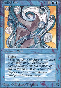 Magic the Gathering Alpha Single Wall of Air UNPLAYED (NM/MT)