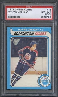 1979/80 O-Pee-Chee Hockey #18 Wayne Gretzky Rookie PSA 8 (NM-MT) (OC) *6708
