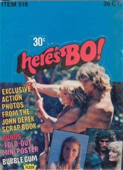 Here's BO! Bo Derek Trading Cards Wax Box (1981 Fleer)
