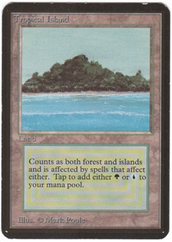 Magic the Gathering Alpha Single Tropical Island - MODERATE PLAY (MP)