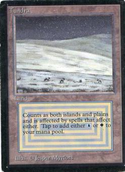 Magic the Gathering Beta Single Tundra - MODERATE PLAY (MP)