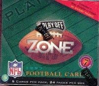 1997 Playoff Zone Football Hobby Box