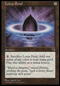 Magic the Gathering Tempest Single Lotus Petal - MODERATE PLAY (MP)