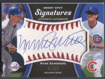 2008 Sweet Spot #RS Ryne Sandberg Signatures Red Stitch Blue Ink Auto #41/60