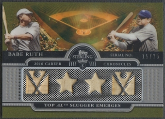 2009 Topps Sterling #1 Babe Ruth Career Chronicles Relics Quad Bat #15/25