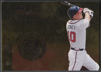 2012 Topps #CJ Chipper Jones Golden Moments 24K Gold #4/5