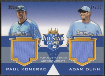 2012 Topps Update # KD Paul Konerko & Adam Dunn All-Star Stitches Dual Jersey #24/25