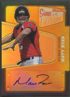 2008 Bowman #SFMR Matt Ryan Signs of the Future Rookie Gold Auto #26/50