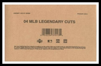2004 Upper Deck SP Legendary Cuts Baseball 16-Box Hobby Case