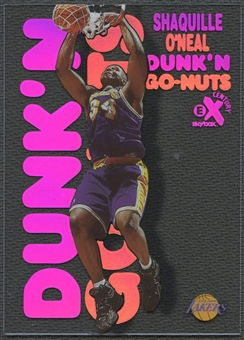 1998/99 E-X Century #9 Shaquille O'Neal Dunk 'N Go Nuts