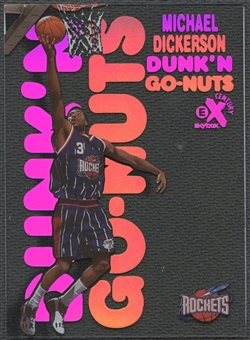 1998/99 E-X Century #18 Michael Dickerson Dunk 'N Go Nuts