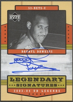 2003/04 Upper Deck Legends #DD Darryl Dawkins Legendary Signatures Auto