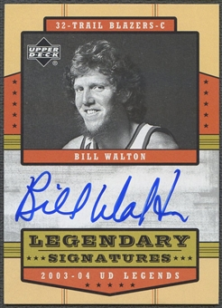 2003/04 Upper Deck Legends #BW Bill Walton Legendary Signatures Auto