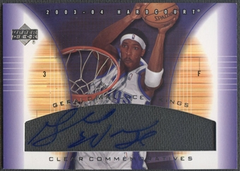 2003/04 Upper Deck Hardcourt #GWA Gerald Wallace Clear Commemoratives Auto