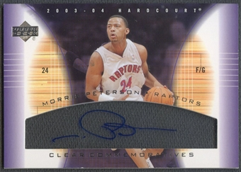 2003/04 Upper Deck Hardcourt #MPA Morris Peterson Clear Commemoratives Auto