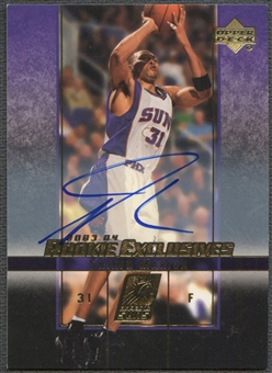 2003/04 Upper Deck Rookie Exclusives #A44 Shawn Marion Auto