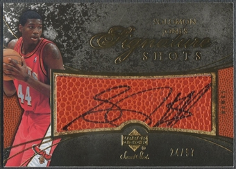 2007/08 Sweet Shot #SJ Solomon Jones Signature Shots Black Ink Auto #24/97
