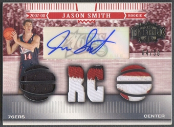 2007/08 Topps Triple Threads #128 Jason Smith Rookie Patch Auto #04/50