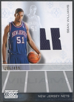 2007/08 Topps Luxury Box #SW Sean Williams Rookie Jersey #306/499