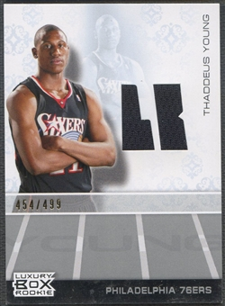 2007/08 Topps Luxury Box #TY Thaddeus Young Rookie Jersey #454/499