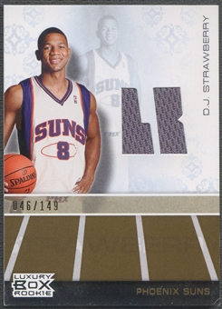 2007/08 Topps Luxury Box #DJS D.J. Strawberry Rookie Gold Jersey #046/149