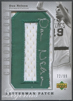 "2006/07 Chronology #154 Don Nelson Patch Letter ""O"" Auto #72/99"