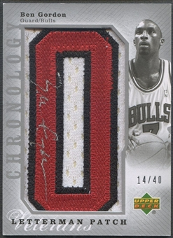 "2006/07 Chronology #220 Ben Gordon Patch Letter ""O"" Auto #14/40"