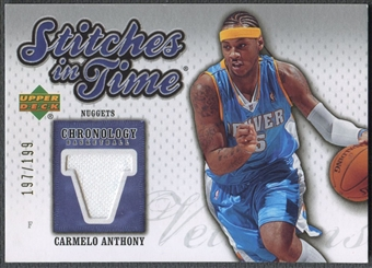 2006/07 Chronology #SITCA Carmelo Anthony Stitches in Time Jersey #197/199