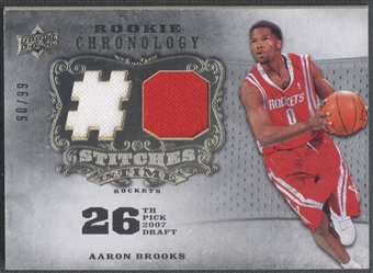 2007/08 Chronology #AB Aaron Brooks Stitches in Time Rookie Jersey #90/99