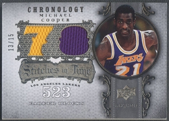 2007/08 Chronology #MI Michael Cooper Stitches in Time Jersey #13/15