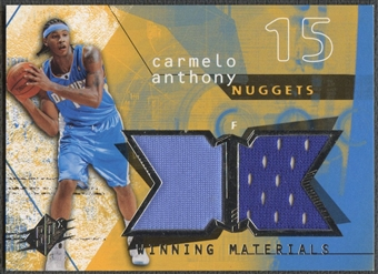 2004/05 SPx #CA Carmelo Anthony Winning Materials Jersey