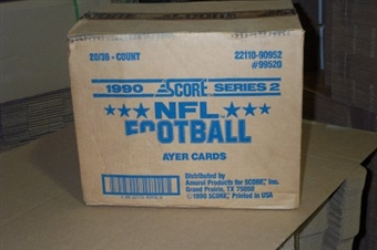 1990 Score Series 2 Football Wax 20-Box Case